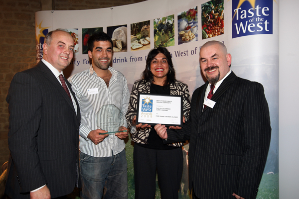 The Cornish Curry Company being awarded Gold in 2009